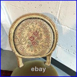 Chaise Basse Style Louis XVI Modele Medaillon 19 Eme Siecle Bon Etat