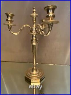 Chandelier en bronze argenté de style Louis XVI