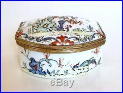 Chantilly 18ème Tabatière En Porcelaine À Décor De Style Kakiemon Louis XVI