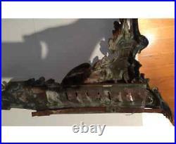 Chenet en bronze de style Louis XV, devant de cheminée XIX siècle