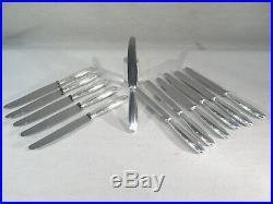 Christofle Suite De 12 Couteaux Metal Argente Style Louis XVI Modele Ruban