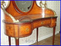 Coiffeuse Rare En Marqueterie Loupe D Orme Style Louis XVI