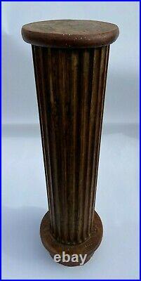 Colonne De Style Louis XVI Cannelee Bois Perle Pour Sculpture L662