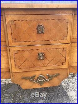 Commode Sauteuse Style Louis XVI En Marqueterie Xxème Estampillée /mailfert