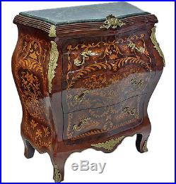 commode style louis xv en bois marquete meuble de chambre louis xvi