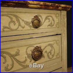 Commode meuble buffet italien bois laqué peint style ancien Louis XVI 900