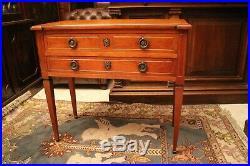 Commode sauteuse pouvant former console en merisier massif style Louis XVI