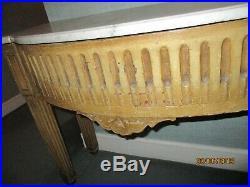 Console D'applique En Bois Patinée De Style Louis XVI Avec Dessus Marbre