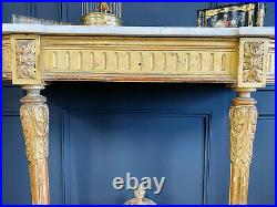 Console D'époque Napoléon III En Bois Doré De Style Louis XVI
