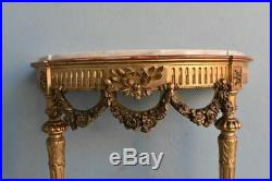 Console d'applique en bois doré de Style Louis XVI XIXème