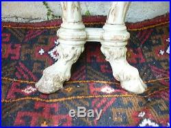 Console dapplique en bois peint, 1900 style louis XVI pieds à sabots de biche