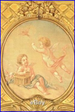 Console trumeau dorés style Louis XVI