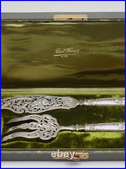 Couverts à poisson de style Louis XVI en Argent Massif Minerve époque XIXe