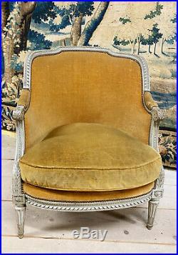 Duchesse Brisée D'époque Napoléon III En Bois Rechampi De Style Louis XVI