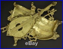 Encrier, Noeuds Et Instruments De Musique, Style Louis Xvi, Début 1900 Bronze