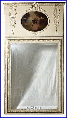 Exceptionnel trumeau XIXe style Louis XVI