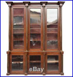 Exceptionnelle bibliothèque acajou style Louis XVI époque XIXème