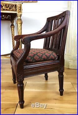 Fauteuil D'enfant D'époque Napoléon III De Style Louis XVI En Bois Noirci