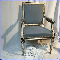 Fauteuil Plat Style Louis XVI 18 Eme Siecle Bon Etat