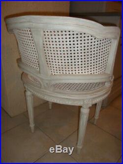 Fauteuil canné corbeille Style Louis XVI