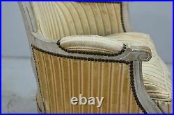 Fauteuils style Louis XVI laqué fin XIXème (paire)