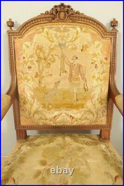Fauteuils style Louis XVI tapisserie petit point
