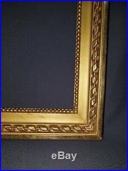 GRAND CADRE BOIS DORE EPOQUE NAPOLEON III STYLE LOUIS XVI 74 x 59 cm