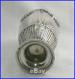 Gallia, très joli vase en métal argenté, de style Louis XVI, très bon état