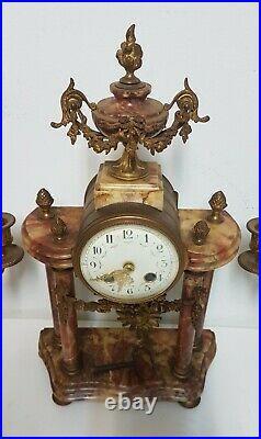 Garniture De Pendule En Bronze Laiton Style Louis XVI