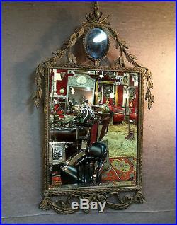 Glace / miroir de style Louis XVI décor de feuillage (déco de théatre)