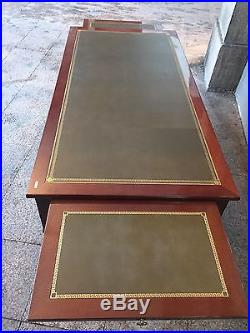 Grand Bureau Plat En Acajou Style Louis XVI Possibilité De Paire Livraison