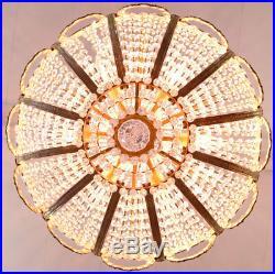 Grand Lustre Montgolfiere Corbeille En Cristal Style Napoleon Empire Louis XVI
