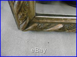Grand Miroir à Fronton en bois et stuc doré fin 19ème style Louis XVI 162x81cm