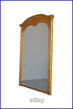 Grand miroir style Louis XVI stuc doré XIXème