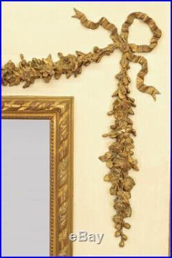 Grand trumeau peint et doré style Louis XVI Napoléon III
