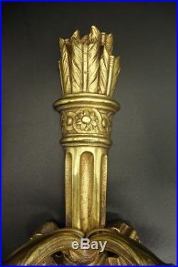 Grande Applique, Carquois Et Noeuds, Style Louis XVI Bronze