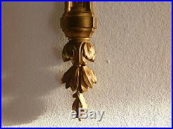 Grande Applique En Bronze Dore Style Louis XVI Tulipes 60 CM