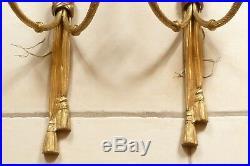 Grande paire d'appliques en bonze doré de style Louis XVI XXé ref 775
