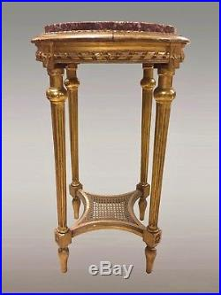 Guéridon sellette style Louis XVI bois doré Napoléon III