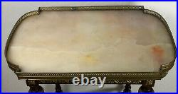 Guéridon / table style Louis XVI en acajou dessus marbre époque Napoléon III