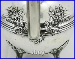 Importante théière/verseuse argent massif Minerve, de style Louis XVI, 870 g