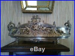 Jardinière en Bronze Argenté de Style Louis XVI