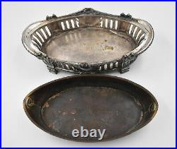 Jardinière en métal argenté orfèvre Victor Saglier style LOUIS XVI