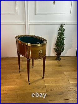 Jardinniere Ancienne En Acajou Et Placage Estampillé Mailfert Style Louis XVI