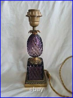Lampe Ananas En Bronze & Cristal Paris Style Louis XVI Epoque XX Eme