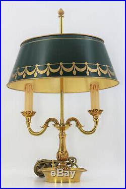Lampe Bouillotte en Bronze Massif de Style Louis XVI Lucien Gau