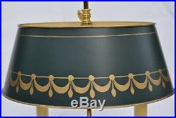 Lampe Bouillotte en Bronze doré de Style Louis XVI