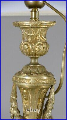 Lampe De Style Louis XVI En Bronze Doré époque XIX ème