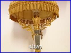 Lampe ancienne en bronze doré et marbre de style Louis XVI. Prête a poser