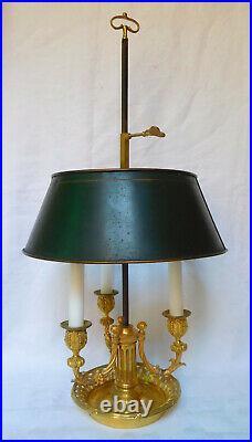 Lampe bouillotte en BRONZE DORE de style Louis XVI d'époque XIXe siècle